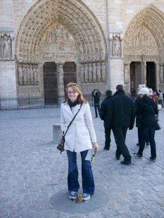 Me in front of Notre Dame, circa 2010